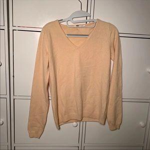 Nwot Uniqlo Cashmere Sweater Yellow Xs